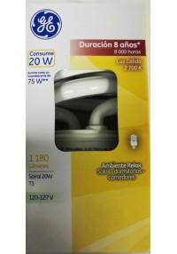 35733 Lámpara Fluorescente Compacta Spiral 20 W c/u